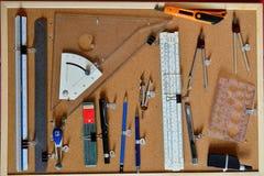 为设计和图画的工具 免版税库存照片