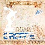 为设计旅行设置到希腊 也corel凹道例证向量 库存图片