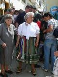 为跳舞的verdiales打扮的妇女 免版税图库摄影