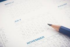 为运作的议程任命日程表排进日程 库存照片