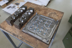 为铸造的金属工具 库存照片