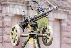 苏联军队世界War2时间机关枪 免版税库存照片