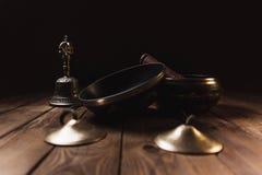 为音乐凝思的Tibetian仪器 免版税库存图片