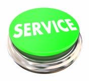为首选的绿色按钮服务 库存图片