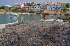 为龙虾渔做准备 库存图片