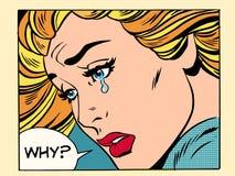 为什么女孩哭泣 库存例证
