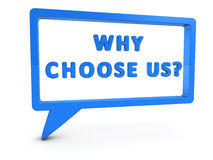 为什么选择我们 免版税图库摄影