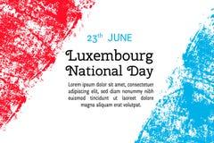 为6月23日在难看的东西样式的卢森堡天导航例证 设计海报的,横幅, flayer,问候,邀请汽车模板 免版税库存照片