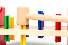 为年轻木匠的五颜六色的工具 免版税库存照片