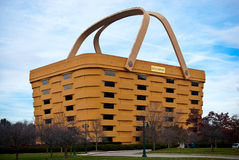 basket Shaped Longaberger Company家庭办公室 库存照片