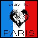 为巴黎祈祷 免版税库存照片