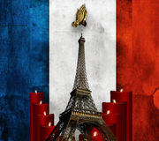 为巴黎祈祷 免版税库存图片
