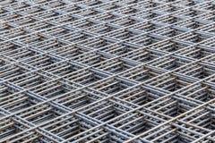 为建筑堆积的铁棍 免版税库存照片