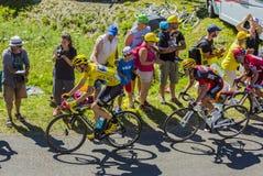 为黄色-环法自行车赛的战斗2016年 免版税库存照片