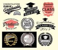 为类设置的毕业区段2015年 免版税库存照片