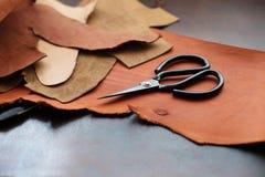 为leathercraft的工具 库存照片