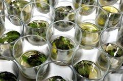 为mojito鸡尾酒的准备的基本类型 免版税库存照片