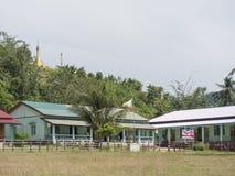 为Moken孩子的小学,缅甸 免版税库存图片