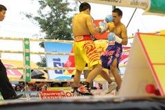 为PABA超次轻量级的拳击选手冠军的战斗 免版税图库摄影