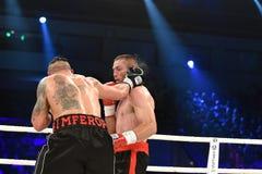 为WBO洲际的次重量级冠军传送带的战斗 免版税库存照片