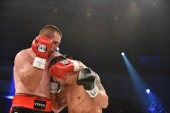 为WBO洲际的次重量级冠军传送带的战斗 图库摄影