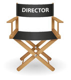 主任电影椅子向量例证 免版税库存图片