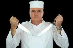主厨刀子 免版税库存图片