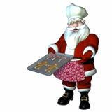 主厨圣诞老人 库存图片
