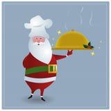 主厨圣诞老人 库存照片