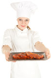 主厨女性肉系列 图库摄影