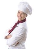 主厨女性 免版税库存图片