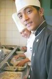 主厨工作 库存照片
