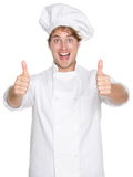 主厨愉快的赞许 免版税图库摄影