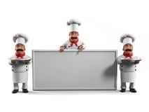 主厨滑稽的厨房 免版税图库摄影