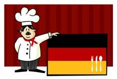 主厨烹调德语 免版税库存图片