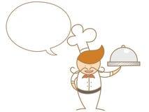 主厨联系在泡影 库存照片