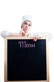 主厨菜单认为 免版税库存图片