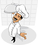 主厨较大视图 免版税库存照片