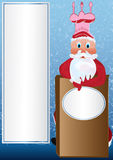 主厨eps圣诞老人 免版税图库摄影