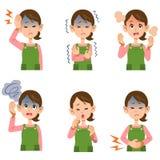 主妇妇女` s症状6个类型 库存例证