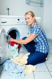 主妇洗涤物 免版税图库摄影