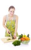主妇蔬菜 免版税库存照片