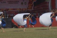 主持亚运会的印度尼西亚2018年 库存照片