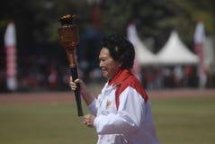 主持亚运会的印度尼西亚2018年 免版税库存图片