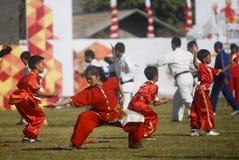 主持亚运会的印度尼西亚2018年 免版税库存照片