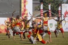 主持亚运会的印度尼西亚2018年 免版税图库摄影