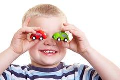 主持儿童藏品玩具二 免版税库存图片