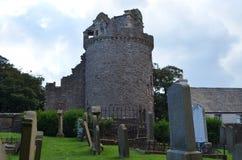 主教` s宫殿和公墓的废墟圣徒马格纳斯大教堂的,柯克沃尔,奥克尼郡岛 免版税库存图片