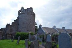 主教` s宫殿和公墓的废墟圣徒马格纳斯大教堂的,柯克沃尔,奥克尼郡岛 免版税库存照片