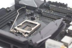 主板有英特尔LGA 1151 cpu插口的计算机个人计算机 免版税库存图片